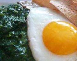 Špinat s jajima
