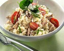 Riža na bijelo s tunjevinom