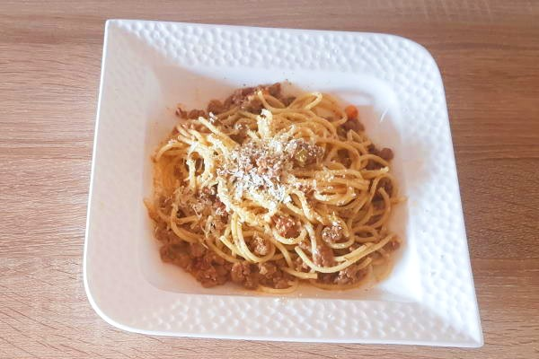 Špageti s mljevenim mesom – osnovni recept