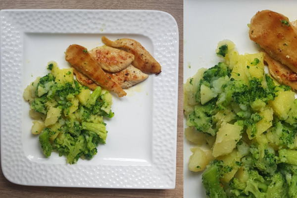 Piletina s krumpirom i brokulom